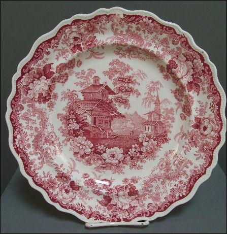 Romantic Staffordshire transferware plate by John Swift in the