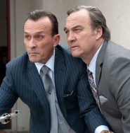 Robert Knepper and Jim Belushi in a still from Twin Peaks. Photo: Suzanne Tenner/SHOWTIME