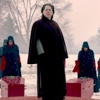 "The Handmaid's Tale --""After"" - Episode 207 -- An attack sends shockwaves through both Gilead and Little America. Serena Joy makes a dangerous choice in order to protect her family. Moira searches for someone from her past. Aunt Lydia (Ann Dowd), shown. (Photo by: George Kraychyk/Hulu)"