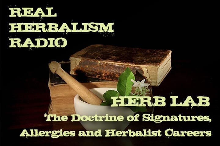 Show 145: Herb Lab – The Doctrine Of Signatures, Allergies And Herbalist Careers