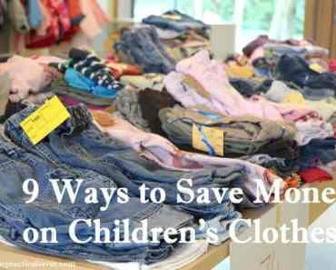 9 Ways to Save Money on Kids' Clothes