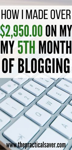 how i made over 2950 on my 5th month of blogging