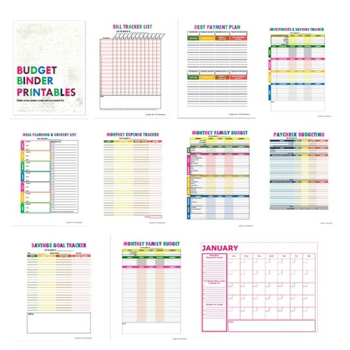 Budget Printable Binder Kit