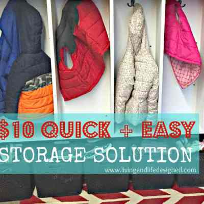 Quick + Easy Storage Solution for Jackets and Shoes