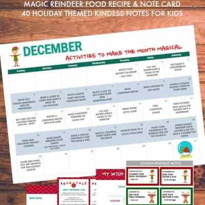 Christmas Printable Pack Including a December Activity Calendar