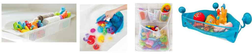 Bathtub organizers for kids to keep your bathroom organized and without toys all over the tub