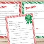 10 Free Cute Letter To Santa Printable Templates