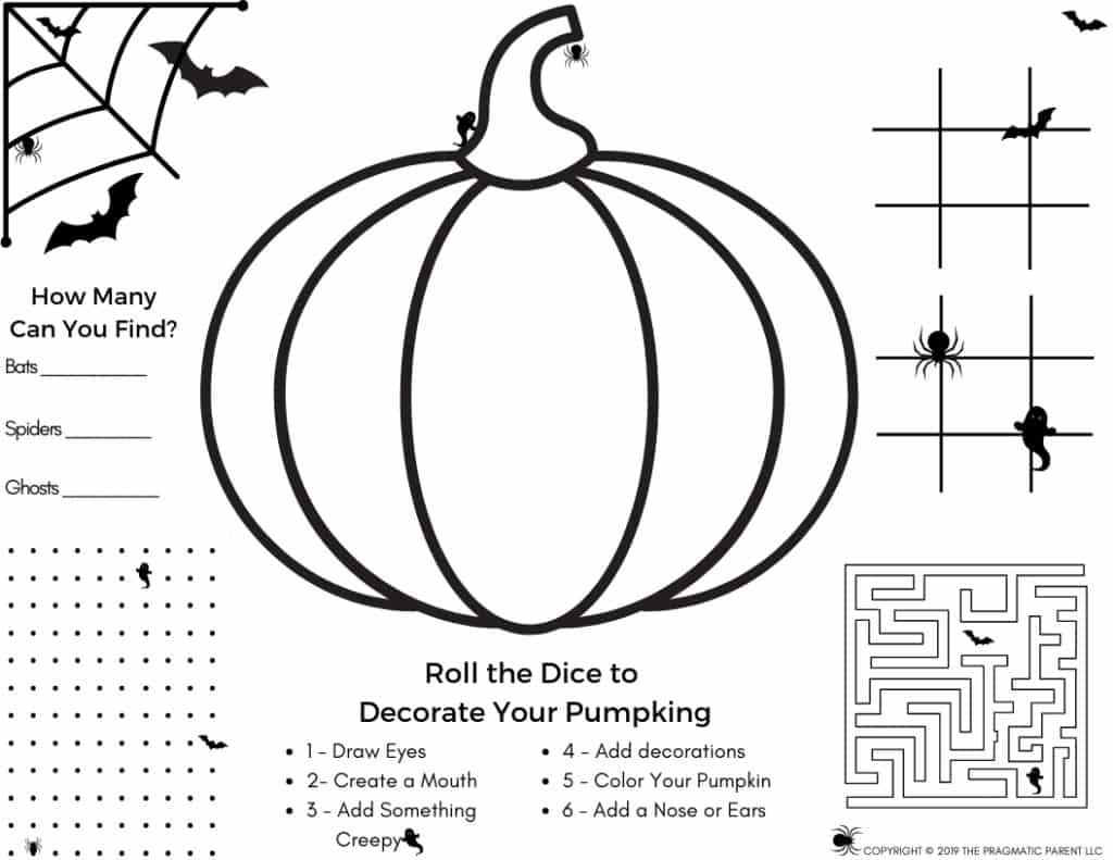 Halloween Set Halloween Activity Page Amp 4 Halloween