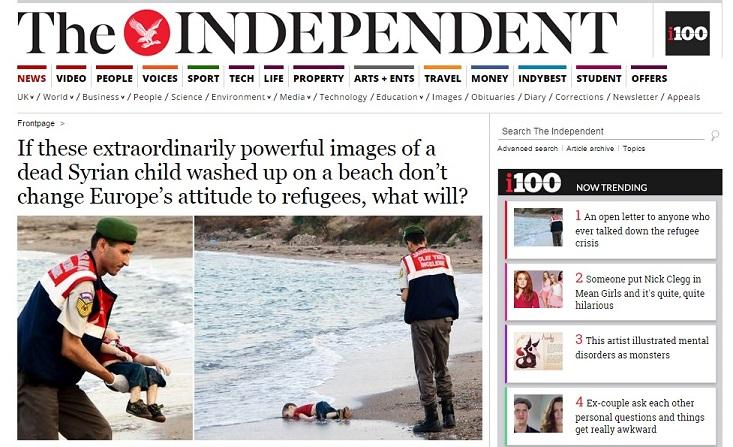 The Independant - Aylan Kurdi