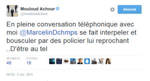 Mouloud Achour - Tweet