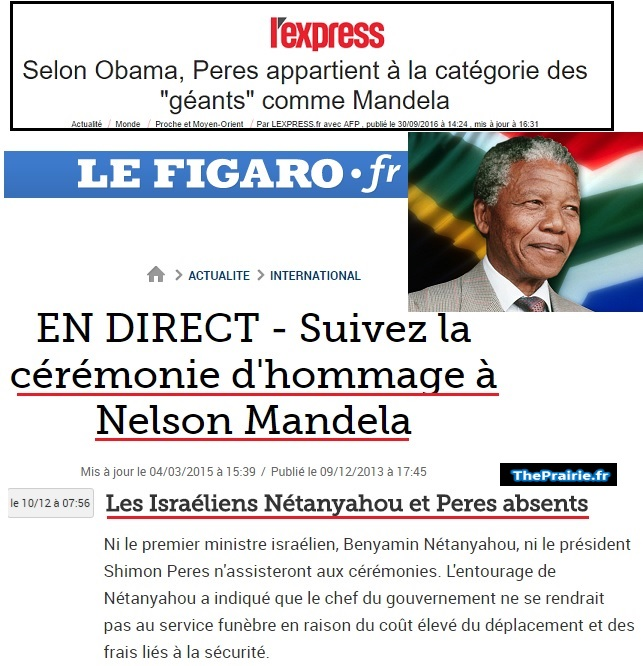 Shimon Peres absents des obsèques de Nelson Mandela - ThePrairie.fr !