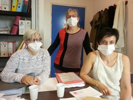 Isabelle Bertrand, Valérie Martin, et Armelle Paris, déléguées CGT au centre hospitalier Jacques Coeur de Bourges © Radio France - Michel Benoit