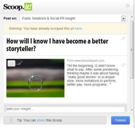 Curation on Scoop.it is easy
