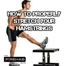 proper hamstring stretching