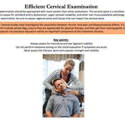 The Guide to Efficient Physical Therapy Examination