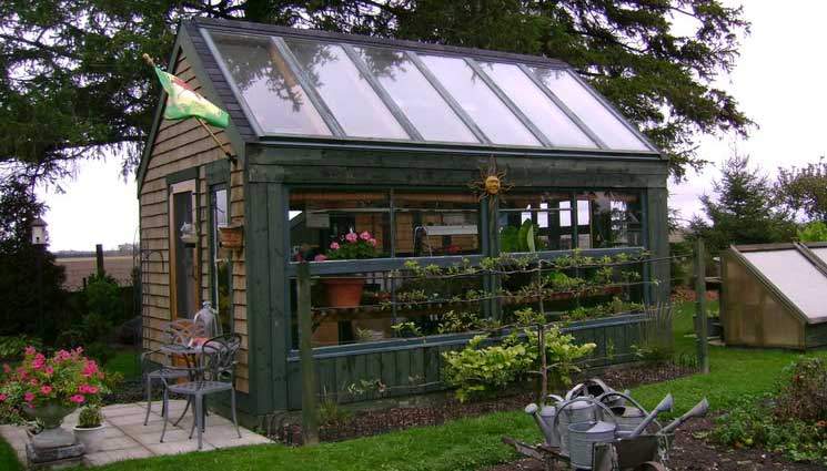 Grow Food All Year Long: Recycled Patio Door Greenhouse ...