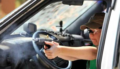 How to Defend Yourself with a Pistol from Inside Your Car
