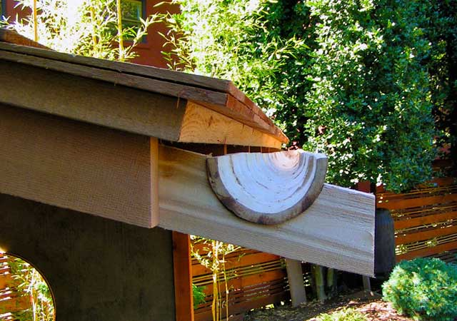 Build your own bamboo rain gutters