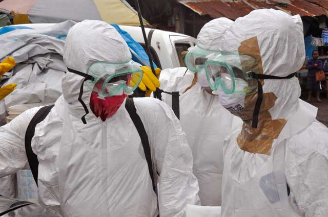 Ebola is transmitted through body fluids. Isolation may be necessary if the virus spreads.