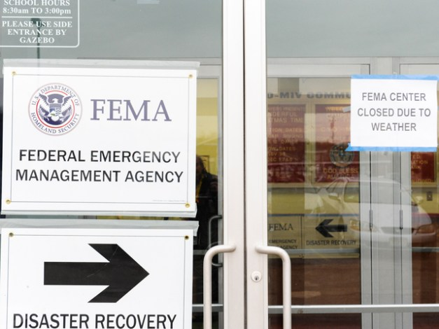 FEMA doesn't want to get out in the storm to help you.