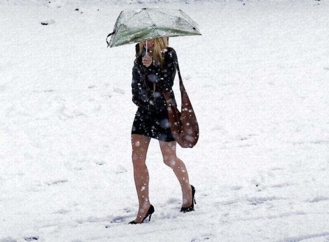 High Heels look great, but they don't make sense in the snow.