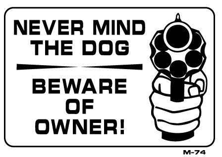 And now they know you have a gun.