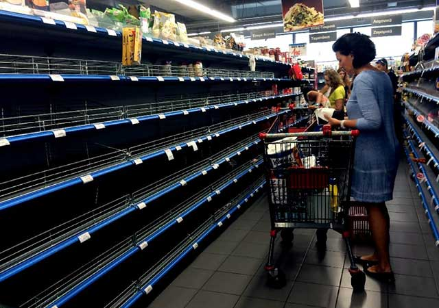 Greeks are finding food, medicine and fuel in short supply.