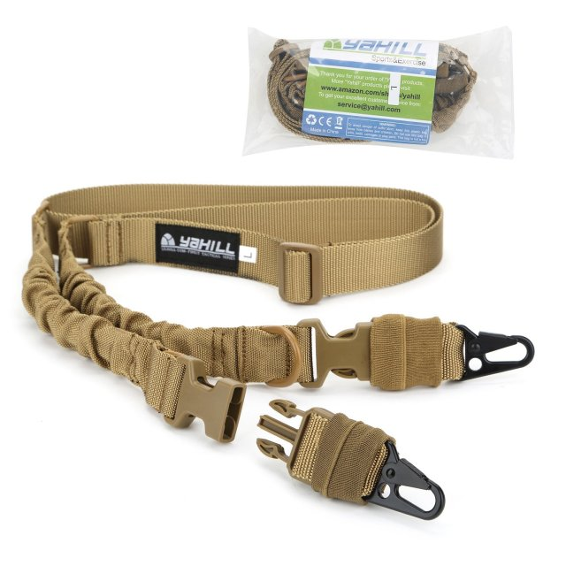 Yahill(TM) Multi-Use 2 Point 2-IN-1 Rifle Gun Sling Adjustable Strap Cord