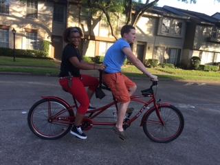 Tandem bike fun.
