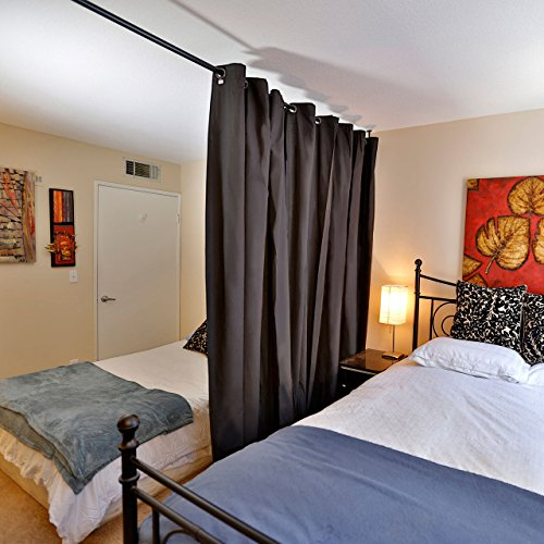 Another use for old sheets: Divide living areas and sleeping quarters into separate spaces with easy-hanging privacy curtains. It can save some much-needed sanity during even a temporary crisis.