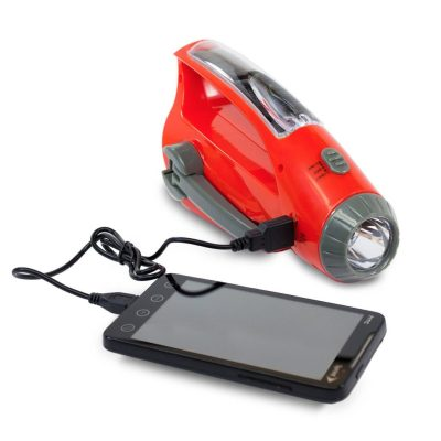 Emergency Radio & Portable Phone Charger (3 in 1) Solar, Hand Crank Dynamo and USB Power