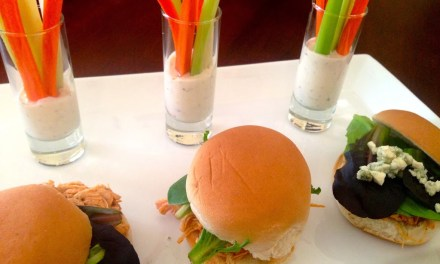 Spicy Buffalo Chicken Sliders with Cool Blue Cheese