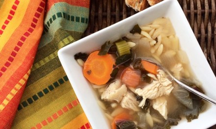 Lemon Chicken Orzo Soup with Kale