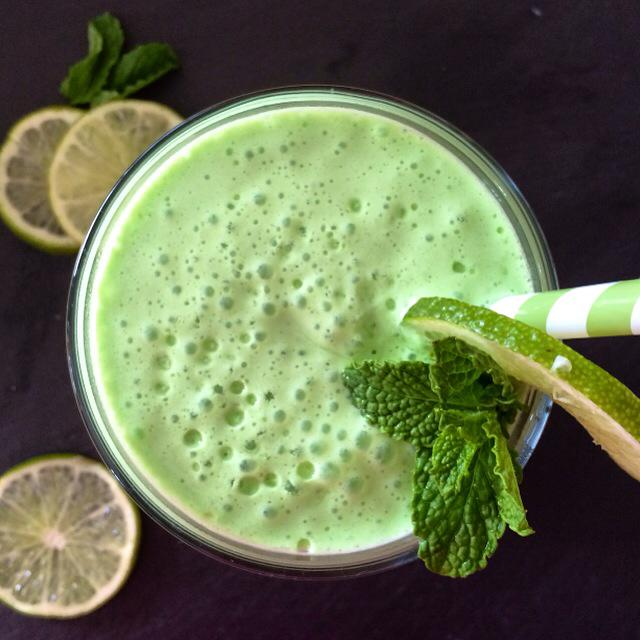 Fresh Mint and Lime Shamrock Shake