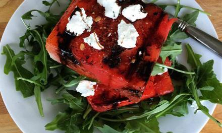 Grilled Watermelon Salad with Arugula