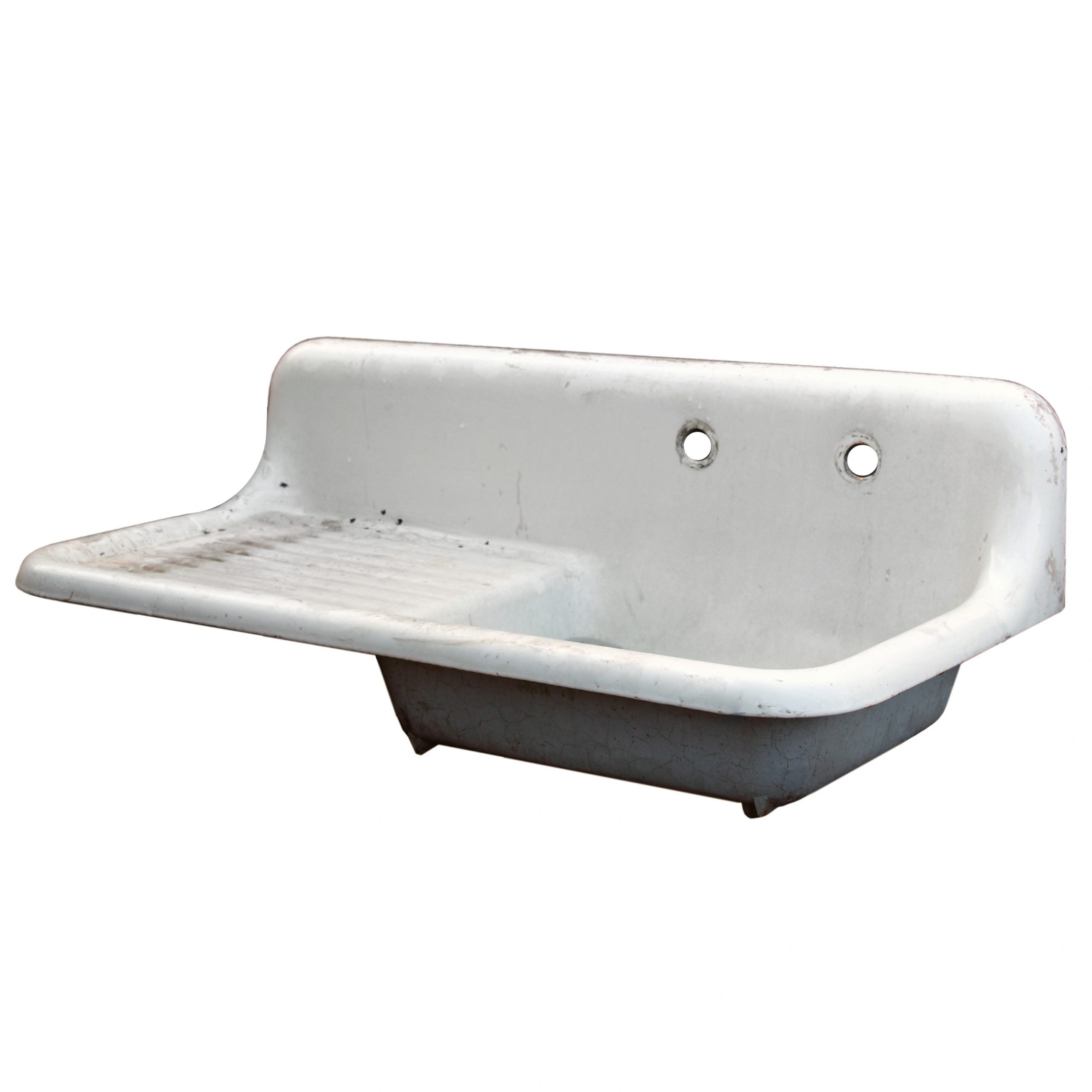 salvaged antique farmhouse sink early