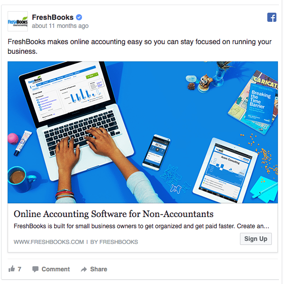 freshbooks-facebook ad example