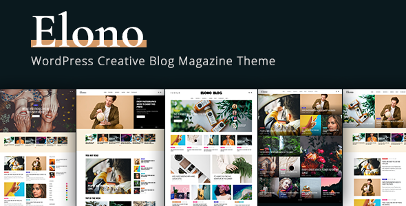 Elono - WordPress Blog Magazine Theme for blogging