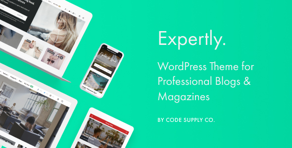 Expertly - WordPress Blog & Magazine Theme for Professionals for blogging