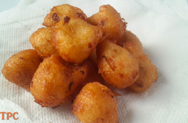 Delightful nigerian snack, ojojo water yam fritters