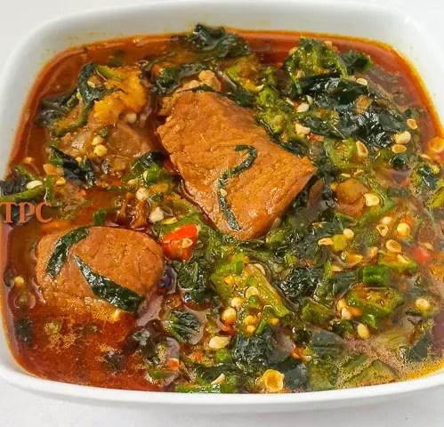 Fresh Okro soup, Okra Soup