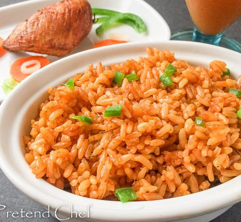 jollof rice, nigerian jollof rice, rice in a bowl