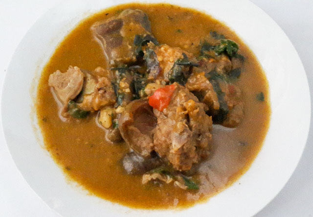 Rich and mouth watering nsala soup