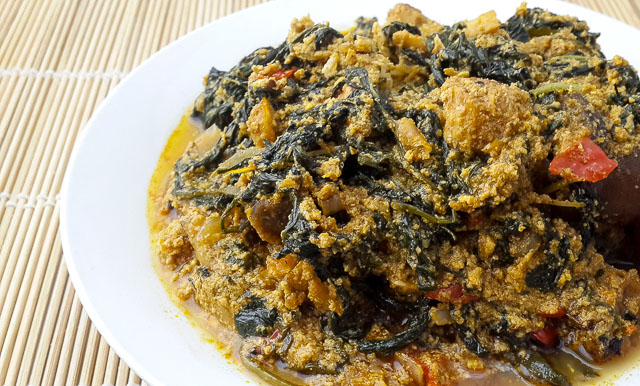 Authentic and appealing ofe awa, awa soup