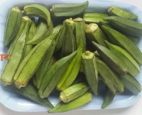 okro for vegetable yam (ji akwukwo)