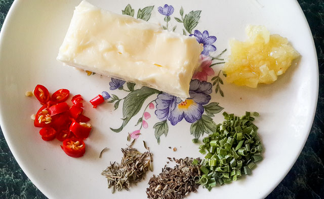 ingredients for Herb butter sauce