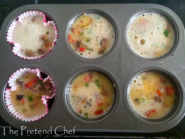 egg muffins mix in muffin pan