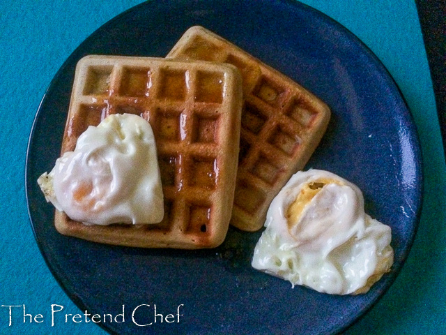Golden, fluffy, flavoursome and crispy around the edges, Easy waffles recipe