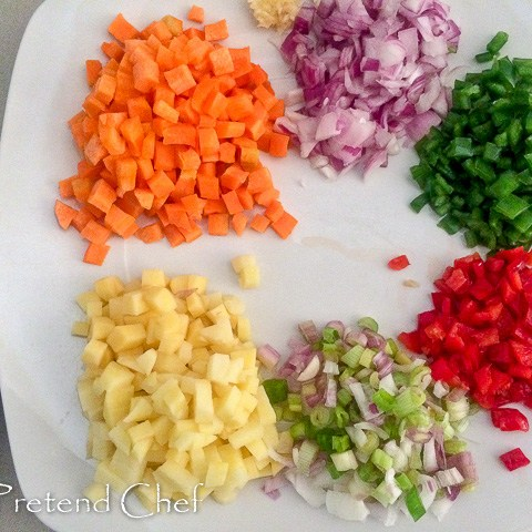 vegetables for Nigerian vegetable pie