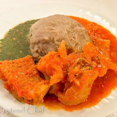 Omi Obe (Stew) with Ewedu